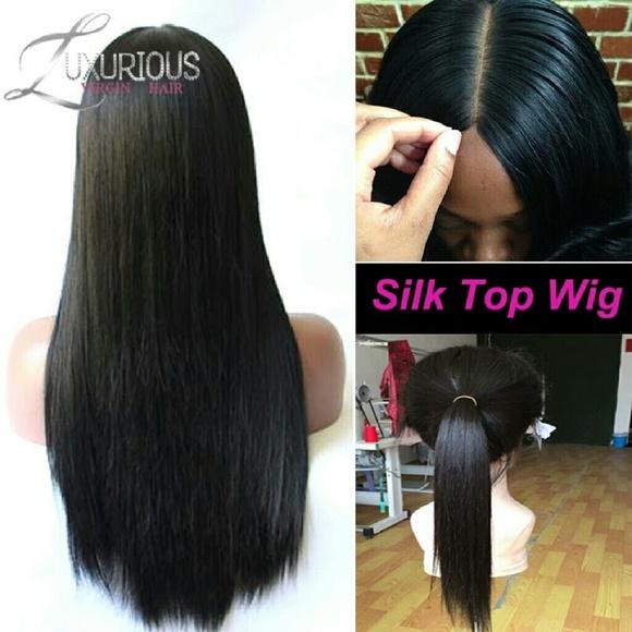 Accessories Silk Top Lace Wig 1820 Inches Poshmark