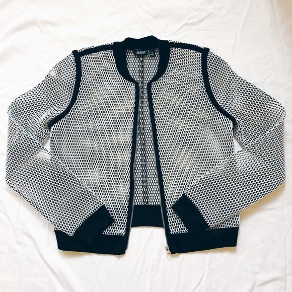 0cc8ccb79 NWOT mesh bomber jacket