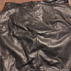 HTC Dresses & Skirts - Ladies leather brown skirt ( large)
