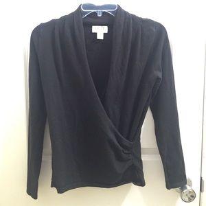 LOFT Sweaters - LOFT Wrap black sweater