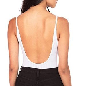 Tops - Nude Ribbed Bodysuit