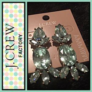 J. Crew Jewelry - 🤑SALE🤑🆕Crystal Statement Chandelier Earrings