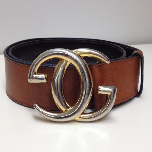 02fcc8a9840 Gucci Accessories - Gucci vintage auth GG buckle brown leather belt.