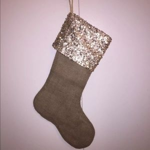 Other - Gold Sequin & Burlap Stocking!