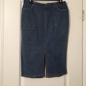 NWT Who What Wear Denim Skirt