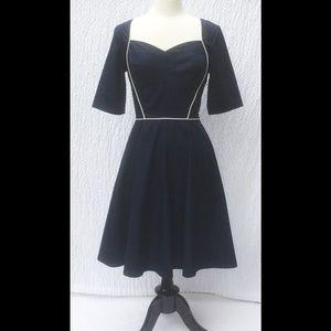 New Eshakti Navy Fit & Flare Dress M 10