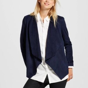 NWT Navy Faux Suede Jacket sz S