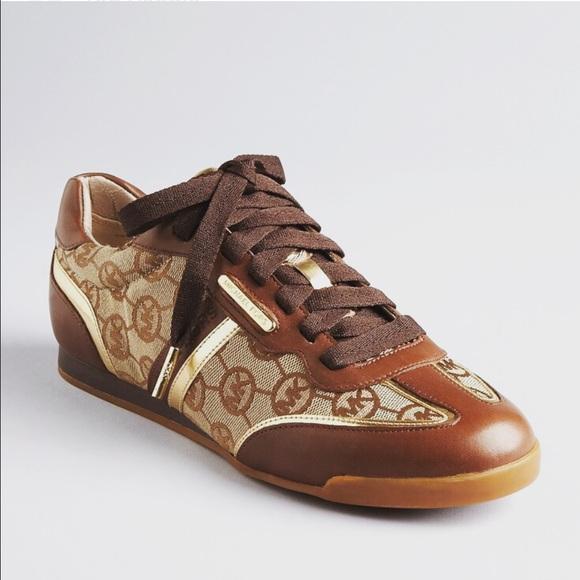 50b3b1a4bc35 Michael Kors MK Trainer Shoes Mocha Size 7.5. M 5882e319b4188ed96e056868