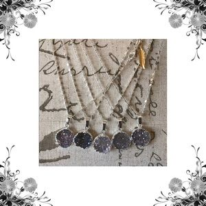 Function & Fringe Jewelry - 🌟2 Left🌟 Amethyst Natural Druzy Necklaces