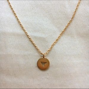 Gold Arrow Circle Necklace