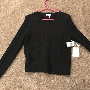 New with tags cropped black sweater