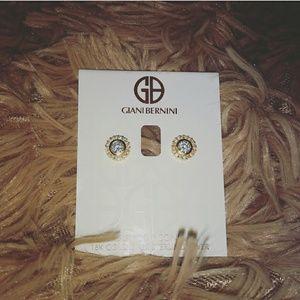 Giani Bernini Jewelry - GIANI BERNINI 18K GOLD STUDS