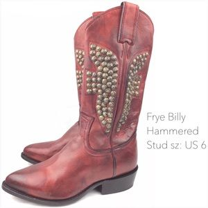 Frye Billy Hammered Stud Vintage Leather Boots