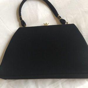 spilene Handbags - Spilene black vintage clutch purse