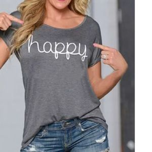 Tops - ⚡️SALE⚡️😘HAPPY t-shirts NEW