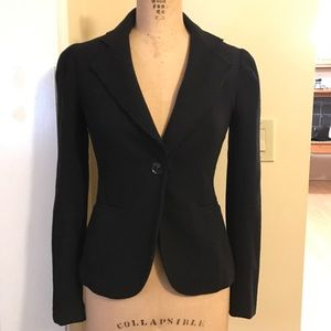 L'AGENCE Jackets & Blazers - Black one button jacket