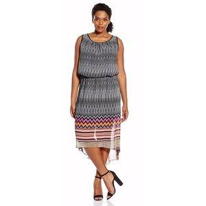 Single dress high low dress.