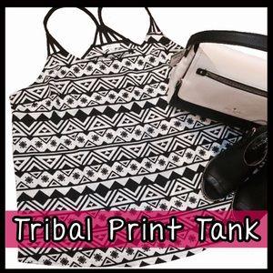 Boutique Tops - PLUS SIZE! Tribal Print Tank