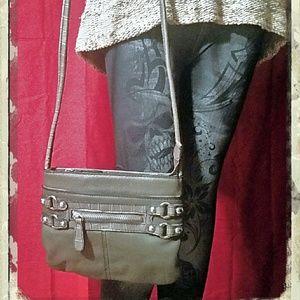 Etienne Aigner Handbags - Etienne Ainger Shoulder Bag in an Olive/Grey