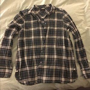 J Crew crinkle plaid boy shirt Size 12