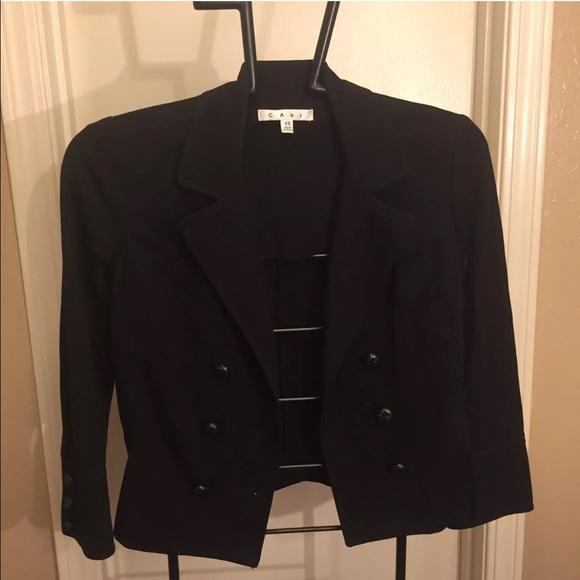 ec00334f83370 CAbi Jackets   Blazers - CAbi Colette Licorice Double Breasted Jacket Sz XS