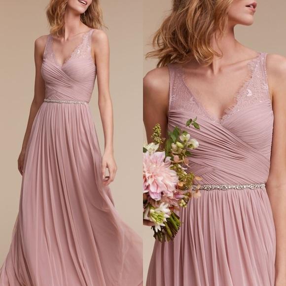 fb49c026df7 Anthropologie Dresses   Skirts - BHLDN Fleur Tulle Maxi Dress in Rose Quartz
