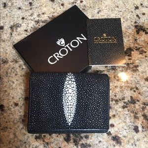 Croton Handbags - Croton Stingray Skin Wallet with Box