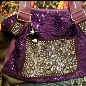 Handbags - Purple bling purse new with tags