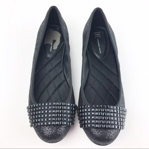 INC International Concepts Shoes - Black Sequin Ballet Flats INC. Size 6