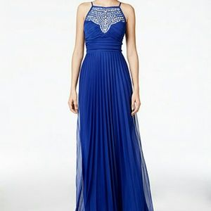 Macy's Dresses & Skirts - Royal Blue Halter Prom Dress