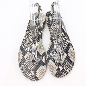 Marc Fisher Shoes - Marc Fisher BIRKIN Faux Snake Skin Flat Sandals 6