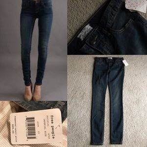 Free People Denim - Nwt free people skinny jeans blue stretch 25