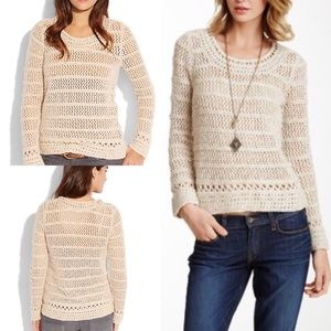 Lucky Brand Sweaters - NWT lucky brand Madison sweater open knit crochet