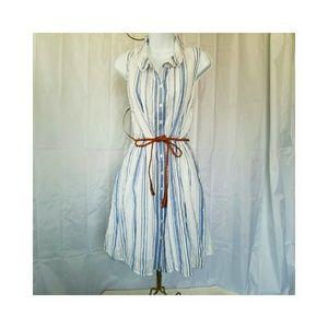 LC Lauren Conrad Dresses & Skirts - ⬇️LC LAUREN CONRAD GAUZE BLUE & WHITE STRIPE DRESS