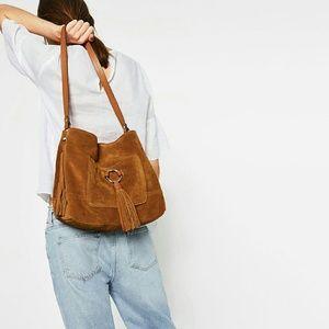 Zara leather bucket bag (8403)
