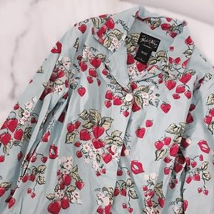 FINAL FLASH- Vintage Berry Heart Print Pajama Top