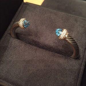 David Yurman Jewelry - David Yurman Bracelet with Blue Topaz & Diamonds