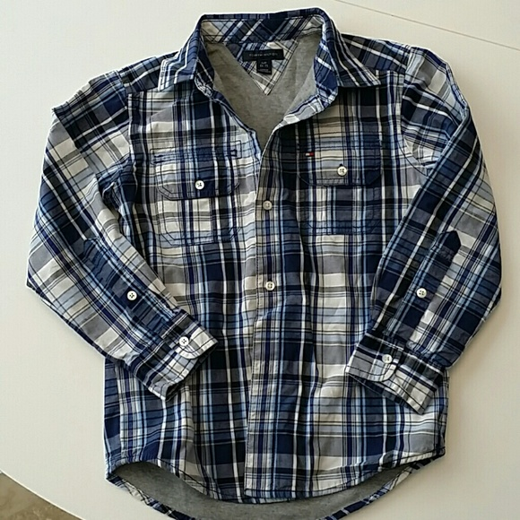 93c317f4cfa Tommy Hilfiger Shirts & Tops | Boys Winter Double Layer Shirt 67 ...