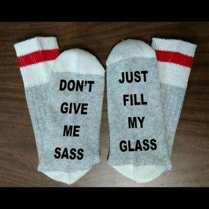 Accessories - Just Fill My Glass Socks 🍷🍷🍷