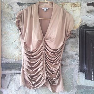 Cache Tops - Cache gold ruffle top, sz m. See pics for details.