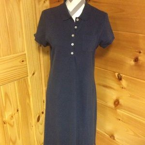 Land's End polo dress navy small