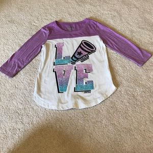 Justice Other - Justice 3/4 sleeve shirt purple white girl size 7