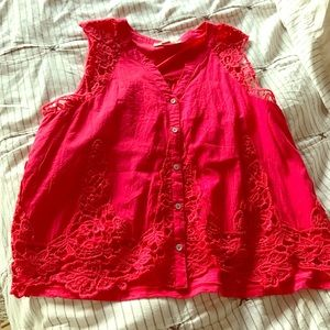 American Vintage Tops - Cute red swingy tank, Aline fit, large
