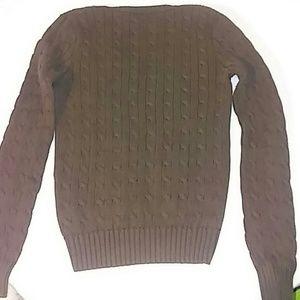 Ralph Lauren Sweaters - Ralph Lauren Sport Medium Brown Cable Knit Sweater