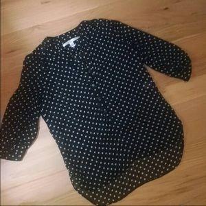 Sheer polka dot blouse Lauren Conrad