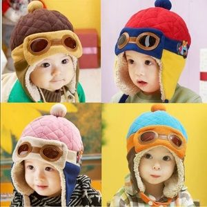 Other - Cute warm aviator beanie with ear flaps.