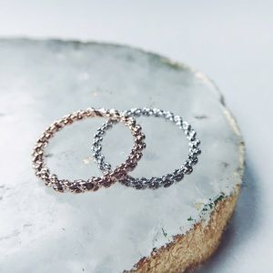 Jewelry - New! Delicate & Dainty Rose Gold Chain Link Ring