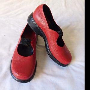 Dansko Shoes - Real Leather! Red Mary Jane Slip-On Design Dansko