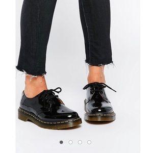 Dr. Martens Shoes - Dr Martens 1461 Classic Black Patent Flat Shoes