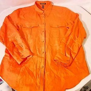 Ralph Lauren Tops - Ralph Lauren Womens XL Linen Long Sleeve Shirt